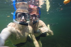 Snorkeling in Florida Bay January 2015