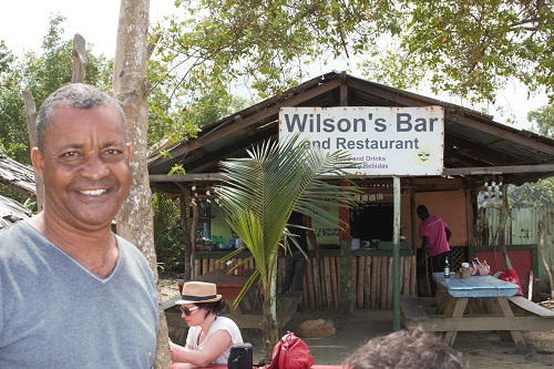Wilson and his restaurant